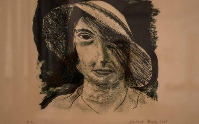 Frau mit Hut (Lithographie)